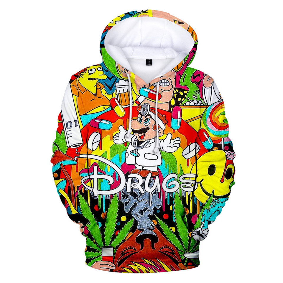 2020 Autumn New Style 3d Hoodies Super Smash Bros 3D Full Printed Hoodie Sweatshirt Funny Drugs Casual Pullover 3d Jacket Coat