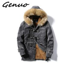 Winter Fleece Military Jackets Men Faux Fur Hooded Windproof Outwear P