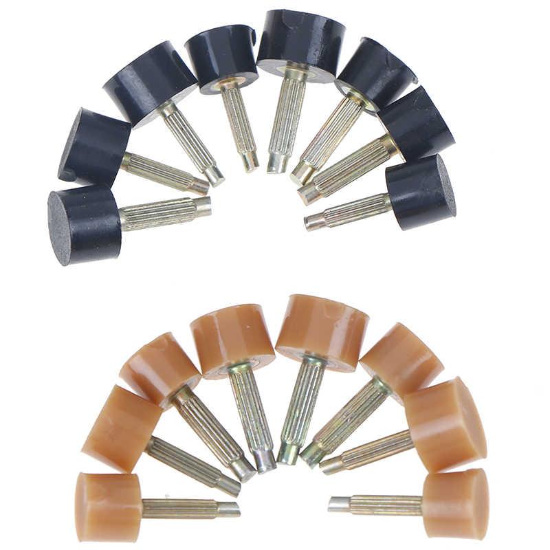 Rubinetti di Tasselli di Impianti di Risalita di Ricambio di Riparazione di Scarpe Tacco Tappi Proteggere 2 Colori 10Pcs = 5Pairs Riparazione Tallone Punte Spilli scarpe Suggerimenti