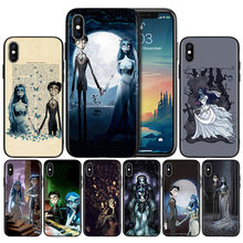 Silicone Case Shell for IPhone XR XS Max X 7 8 6 6S Plus 11 11Pro Max 5 5S SE 5C 7Plus 8Plus Cover Tim Burtons Corpse Bride Case(China)