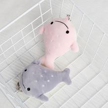 FXM Cute Pink Fish  Plush Keychain Creative Anime Bag Pendant Kids Cartoon Toy