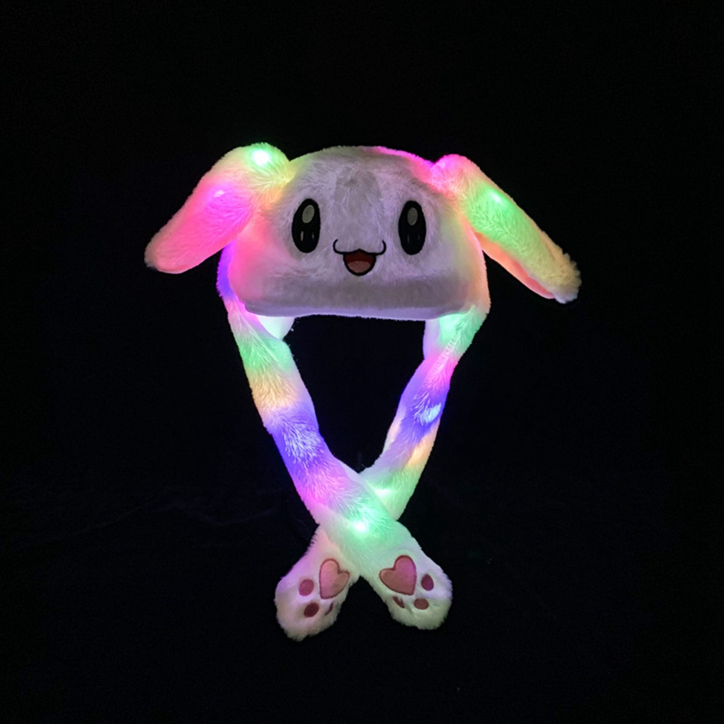 Plush-Toy Animal-Hats Moving Dance Children Women Cute Gift Cartoon Ear Soft for Lights