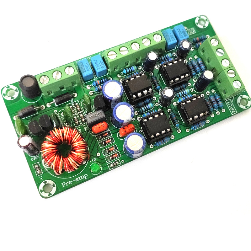 4-channel Dual OP AMP Board Car Amplifier Preamp Front Plate Four-channel OP AMP 5532hifi Preamplifier