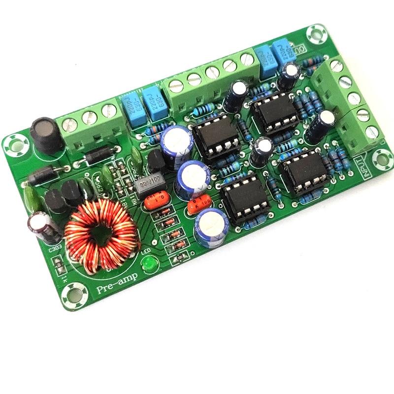 4-channel Dual OP AMP Board Car Amplifier Preamp Front Plate Four-channel OP AMP 5532hifi Preamplifier