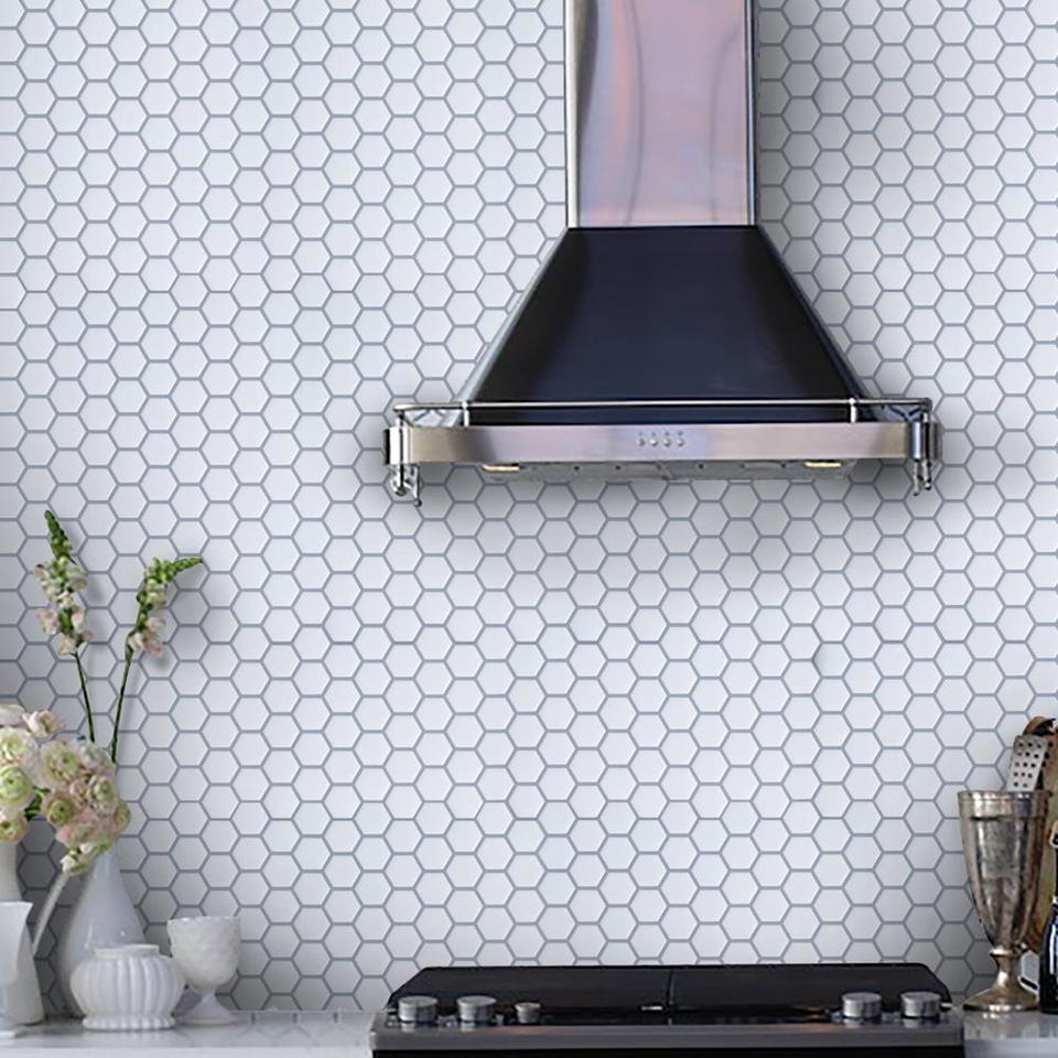 Peel And Stick Backsplash Tiles Self Adhesive Kitchen Backsplash In Kitchen Island Wall Bathroom Fireplace Decoration Wall Stickers Aliexpress