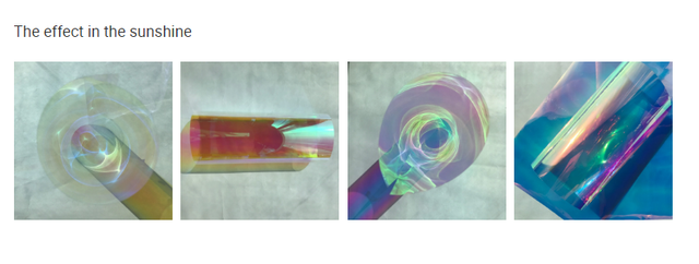 Film de fenêtre pour la construction en verre | Adhésif, dichroïque, teinte solaire, arc-en-ciel, pour la construction de verre, adaptateur rotatif, 138cm x 30m