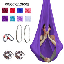 5*2.8 Yoga Hammock Yaga Swing Home Yoga Hammock Stretch Belt Anti-gravity Aerial Yoga Studio Hammock A 3 meters aerial yoga hammock swing latest multifunction anti gravity yoga belts for yoga training yoga for women s sporting