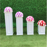 2pcs Wedding road lead frame PVC rectangular Roman column Stage background decoration Home Decoration, Festival Party Supplies