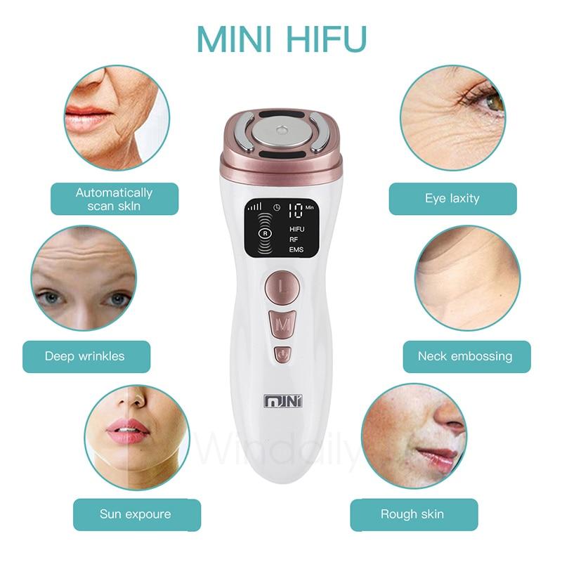 Mini HIFU Machine Ultrasound RF EMS Facial Beauty Device Face  Massager Neck Lifting Tightening Rejuvenation  Skin Care Product 2
