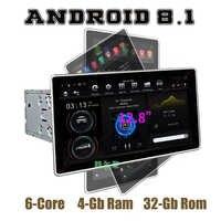 12.8 écran de Rotation IPS PX6 Tesla Style android 8.1 double 2 din voiture universelle gps multimédia radio pas de lecteur DVD wifi usb