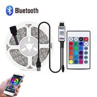 DC 5V USB 2835 LED RGB Streifen lampe Bluetooth Musik Control Buch licht Lampe Home TV Decor Beleuchtung Band schreibtisch dekor band String