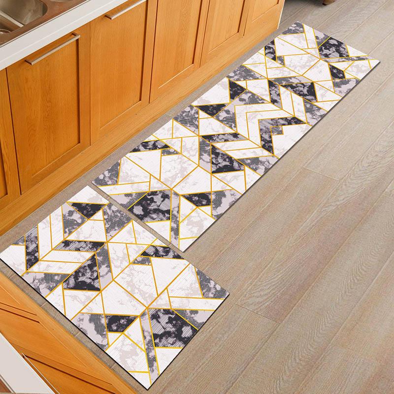 Non slip Popular Machine Washable Durable Entrance Door Mat Bathroom Carpet Home Designer Kitchen Mats Decorative Bedroom Rugs-in Mat from Home & Garden