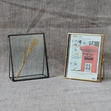 Cadre Photo autoportant Vintage en verre transparent, support de Table pour Portrait