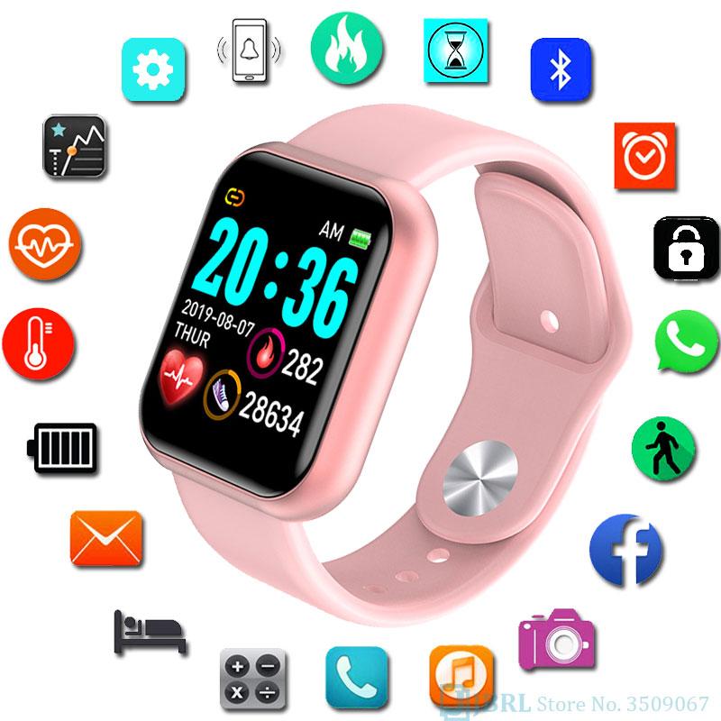 광장 디지털 시계 여성 스포츠 남성 시계 전자 LED 숙녀 손목 시계 여성 남성 시계 여성 남성 손목 시계 시간