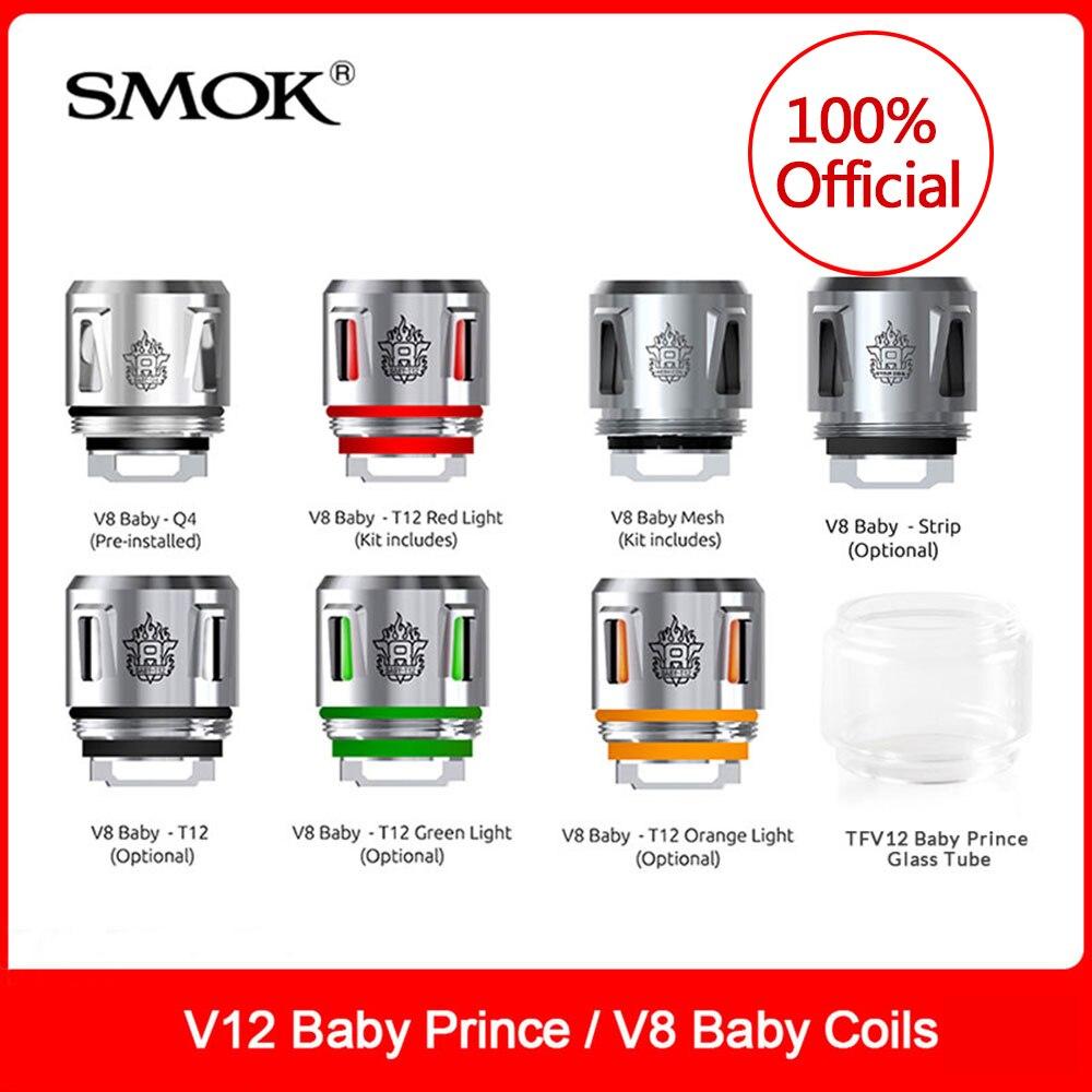 Original SMOK TFV8 Baby-Q4/ Mesh/ Stirp/ T12 Coils Family For Smok V12 Baby Prince/V8 (Big) Baby Tank Smok Electronic Cigarette