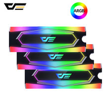 darkFlash M.2 SSD Heatsink Cooler 2280 ARGB 5V Solid State Hard Disk Radiator M2 NGFF PCI-E NVME Aluminum Cooling Thermal Pad(China)