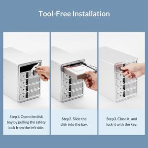 Image 5 - ORICO 95 Serie da 3.5 pollici 1 Bay BOX E ALLOGGIAMENTI PER HDD Alluminio USB3.0 A SATA 16TB HDD Docking Station Con 24W di Alimentazione esterna di Alimentazione