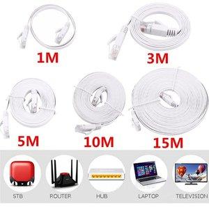 RJ45 Network Splitter Adapter Cable Socket Port LAN Ethernet Network Splitter Y Adapter Cable for Home Office