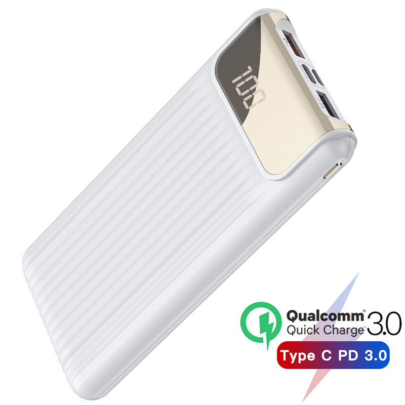 PD3 0 Power Bank 10000mAh Quick Charge 3 0 Powerbank For iPhone Xiaomi Portable Charger External