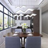 Modern chandelier lighting for dining room rectangle kitchen island LED chandeliers suspension hanging lamp indoor lighting