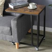 Table basse Mobile avec cadre en fer, meuble de maison, Table à thé, pour chambre à coucher, coin de chevet, salon, HWC
