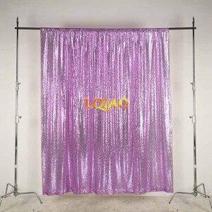 Image 3 - LQIAO 10x10FT fuşya altın gümüş pullu zemin düğün fotoğraf kabini arka planında fotoğraf stüdyosu için/parti/yılbaşı dekoru