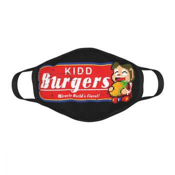 Alex Kidd Burgers Alex Kidd In Miracle World-máscara facial reutilizable, juego Anti-humo,...