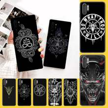 PENGHUWAN Pentagram 666 Demonic Satanic Soft Silicone Phone Cover For Samsung Galaxy J7 J8 J6 Plus 2018 Prime Note 7 8 9 10 pro(China)