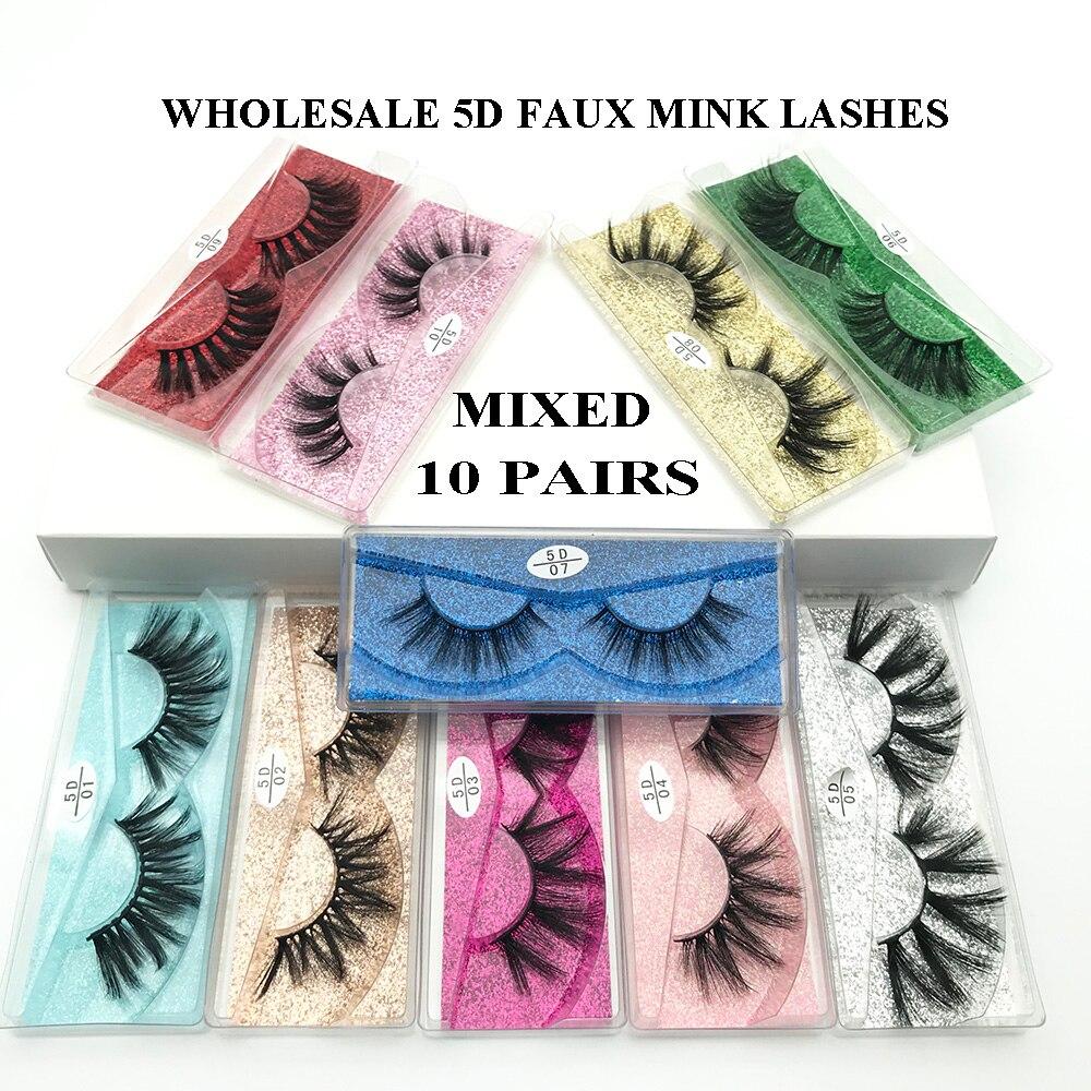 Wholesale Messy Eyelashes 5d Mink Lashes Mink Eyelashes Natural Soft False Eyelashes Make up False Lashes In Bulk