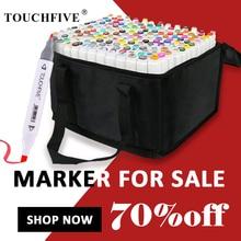 цена на TouchFIVE 168 Colors Single Art Markers Brush Pen Sketch Alcohol Based Markers Dual Head Manga Drawing Pens Art Supplies