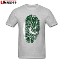 Pakistan Flag Fingerprint Tee Men 1990S Tee Tops O-neck Low Price Brand T Shirt Best Valentines Gift for Her