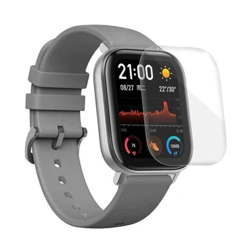 TPU transparente, blando Protector de pantalla para Xiaomi Huami Amazfit Bip GTS BIP Lite reloj inteligente película protectora de la cubierta completa