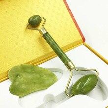 Sha-Set Box-Massager Jade-Roller Natural-Stone Beauty Skin-Care-Tools Facial Gua And