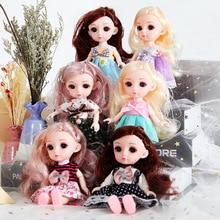 Toys And Girl Dolls Gift-Set Dress-Up Happy-Time Birthday Yazhen 6-Inch Princess Children
