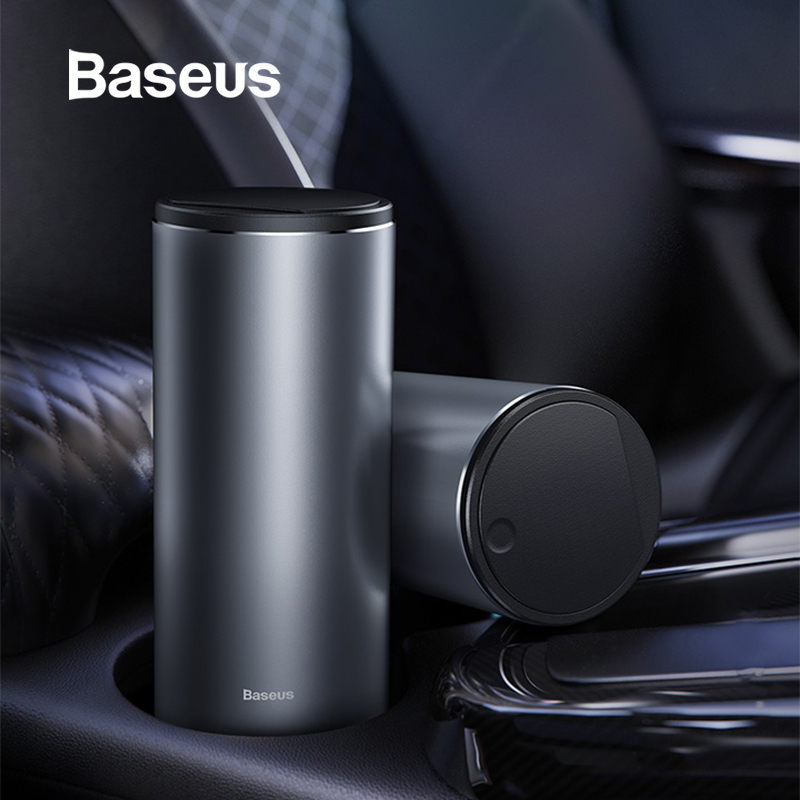 Baseus Car Trash Bin Can Mini Auto Dust Organizer Car Interior Rubbish Bag Garbage Container Storage Box Bucket Accessories