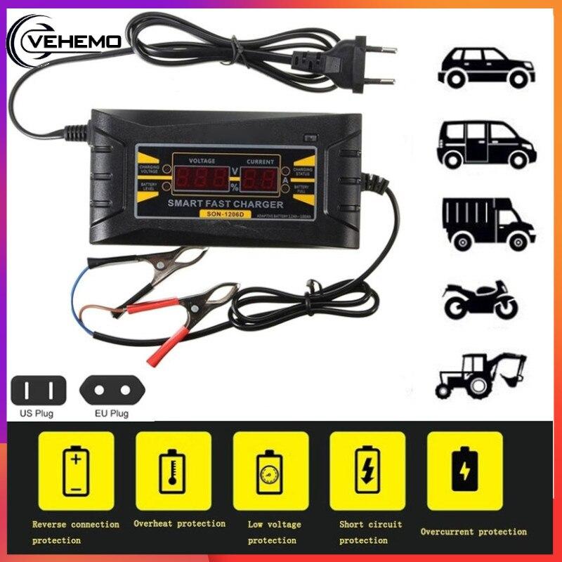 vehemo 12 v 6a ir para iniciantes carregador de bateria carro ir para iniciantes kit de