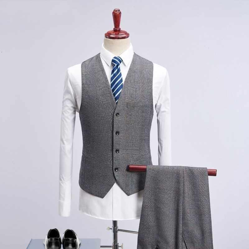 Grigio Tweed di Un Pezzo Vestiti di Affari Degli Uomini Del Plaid Abiti da Sposa 2020 Slim Fit Sposo Mens 3 Pezzo Del Vestito Elegante Costume Maschile mariage Homme