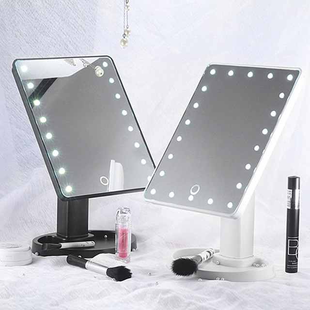 Illuminated Mirror LED Light 16/22 Lamp Makeup Mirror Light Touch Dimme Desktop Mirror LED Cosmetic Vanity 10X Magnifying Mirror 2