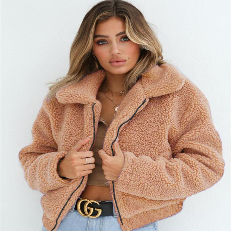 Casual jacket warm Teddy coat fashion womens imported jacket fur vest high-grade artificial fur coat Faux   Leather   Jackets Femal
