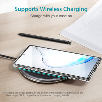 ESR Transparent Business Phone Case for Samsung Galaxy Note 10 Plus + 5G Metal Stand Kickstand Shockproof TPU Cover for S20 Plus 5