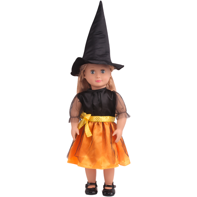 Halloween Skull Dress Hat 18 in Doll Clothes Fits American Girl