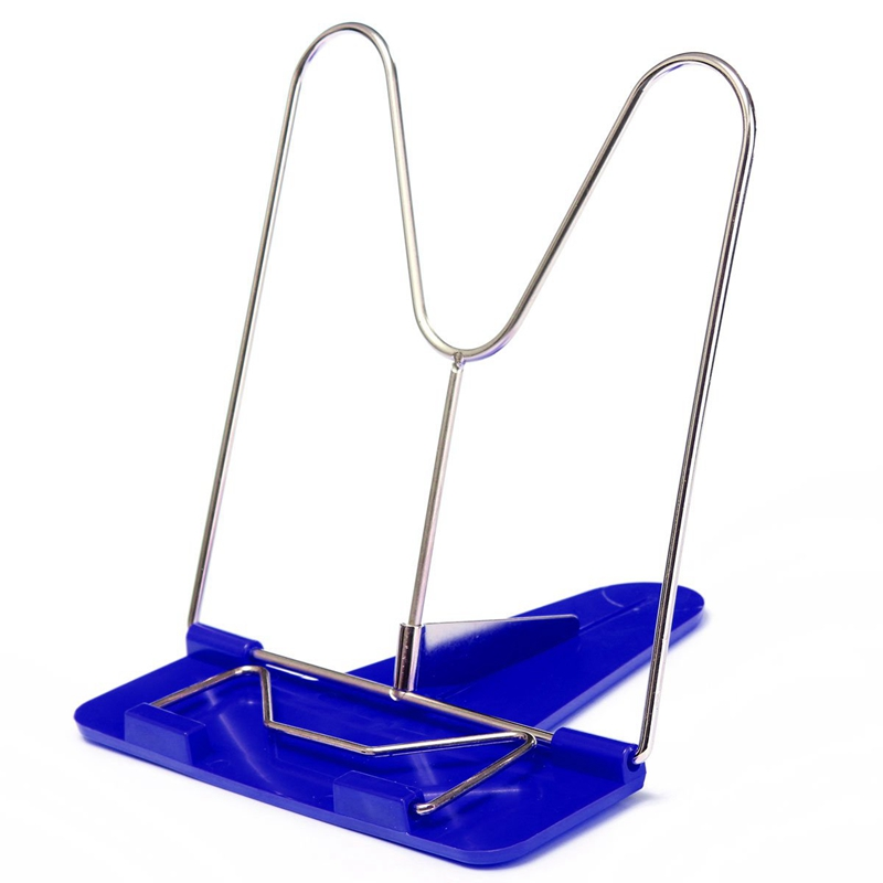 NEW-Adjustable Angle Portable Reading Book Stand Text Book Document Display Holder Blue