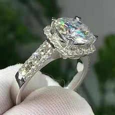 Milangirl luksusowe białe austriackie kryształowe duża kwadratowa kamienne pierścienie dla kobiet srebrne kolorowe cyrkonie obrączki obrączka