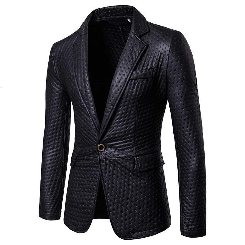 Mens טרייל מעיל החורף חדש בריטי סגנון Slim דק שחור זכר מזדמן כפתור אחד ביצועים חליפת מעיל גברים Prited כסף זהב