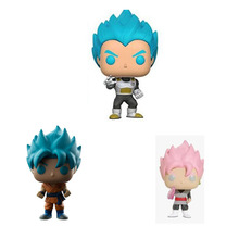 FUNKO POP Dragon Ball Blue Hair Vegeta Pink Red Goku Hand Doll Doll Model Dragon Ball Send Kids Toys