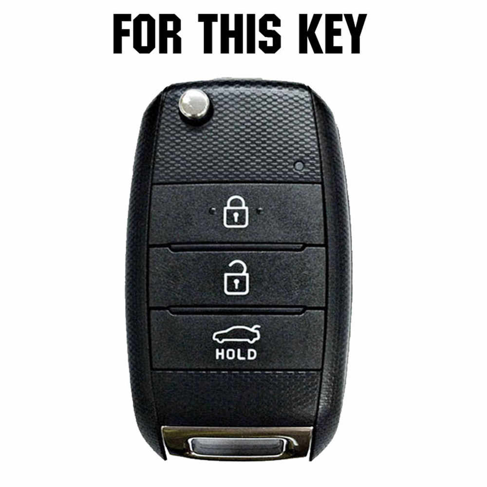 3 4 przycisk pasuje do Kia Sportage Cerato Optima k5 Rio Carens Rondo Cee 'd Picanto k2 dusza Sorento Ski klucz silikonowy pokrywy skrzynka Fob