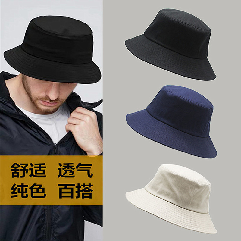 Big Head Man Large Size Sun Hat Women Blank Fisherman Hat Pure Cotton Panama Cap Plus Size Bucket Hats 54-57cm 57-60cm 60-63cm