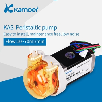 Kamoer 12V/24V KAS small peristaltic  dosing water pump with stepper motor,silicone/BPT tube