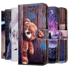 Кожаный чехол-книжка с принтом для Xiaomi Mi A1 A3 A2 Lite Mix 2 2S 3 Y1 Lite, силиконовый чехол-бумажник, чехлы из ТПУ, чехол