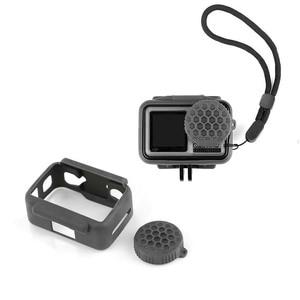 Image 1 - Schokbestendig Beschermende silicagel Lens Cover For a DJI OSMO Actie Camera Accessoires Protector Case Lens Cap For a OSMO ACTION